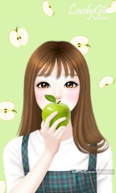 Love Cartoon Couple, Cute Cartoon Girl, Cute Couple Drawings, Girly Drawings, Pretty Anime Girl, Anime Art Girl, Cute Kawaii Girl, Lovely Girl Image, Cute Girl Drawing