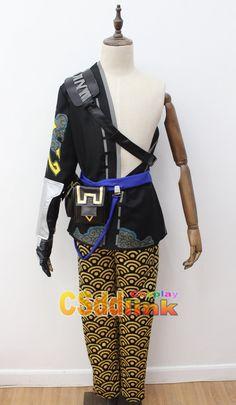 Overwatch Hanzo Cosplay Costume black - CSddlink cosplay