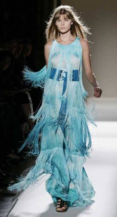 Christophe Decarnin Spring/Summer '08 Christophe Decarnin, French Fashion Designers, Teal, Turquoise, Ready To Wear, Blues, Spring Summer, Gowns, Costumes