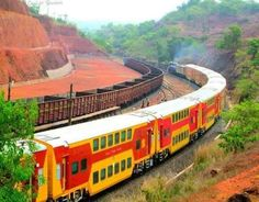 The Konkan railway.