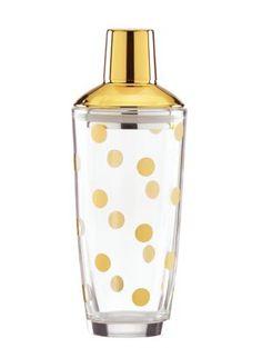 Kate Spade gold dot cocktail shaker