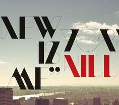 Diseños de tipografías creativas, por Gonzalez y Quainton > Choosa.net
