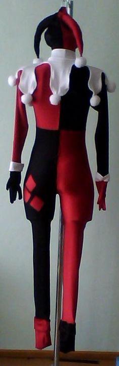 traje harley quinn, licra, disfraz cosplay                              …