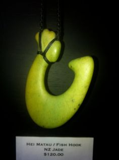 Jade Carving NZ Hei Matau  Fish Hook by RockMyWorldGallery on Etsy, $120.00