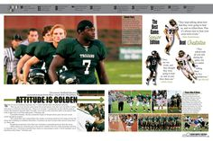 I like this spread a lot. It has a lot of pictures, and also has a big picture. Yearbook Mods, Yearbook Staff, Yearbook Pages, Yearbook Covers, Yearbook Theme, Yearbook Design Layout, Yearbook Layouts, Yearbook Ideas, Corporate Brochure Design