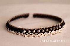 by hf Studded Crochet Necklace ❥ 4U //