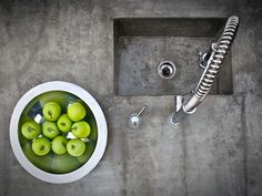 countertops..concrete is a smooth, strong surface - think this gives a cool industrial feel
