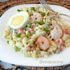 You searched for ensaladilla - Divina Cocina Sausage Pasta Recipes, Chicken Pasta Recipes, Pasta Salad Recipes, Seafood Recipes, Beef Recipes, Pasta Food, Shrimp Pasta, Healthy Salads, Healthy Recipes