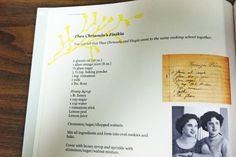 Family collection on recipes- I love how they took pictures, and typed recipes and handwritten recipes and created a photo book- it will last a lifetime and can be handed down generation to generation!