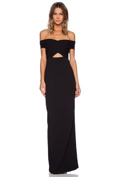 SOLACE London Cara Maxi Dress in Black