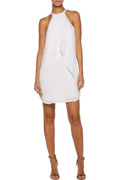 Shop on-sale A.L.C. Shane draped silk crepe de chine mini dress. Browse other discount designer Dresses & more on The Most Fashionable Fashion Outlet, THE OUTNET.COM