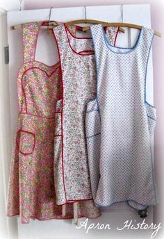 The Country Farm Home: About Vintage Aprons The 2 on the right are just like what my Grandma used to wear~