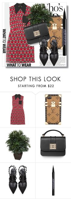 """Pedraza!!"" by dianagrigoryan ❤ liked on Polyvore featuring Miu Miu, Louis Vuitton, Nearly Natural, Valentino, Urban Decay, PedrazaLondon and Pedraza"