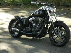 Jeff's Harley Davidson Fat Bob customised with a Voodoo Fender | Rocket Bobs Not sure if I want high bars or low bars.