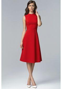 Camila dress | Perfect elegant coctail dress in striking red | Fashion Garden