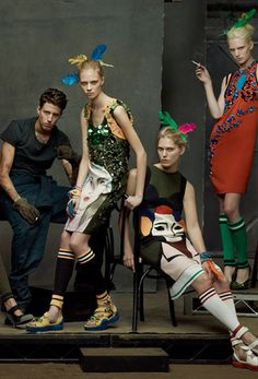 The Collections by Steven Meisel for Vogue Italia January 2014
