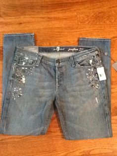 7 Seven for All Mankind Jeans Josefina Boy Friend Crystal 29 Sale $298 New | eBay