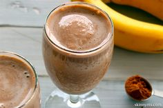Chocolate Peanut Butter Protein Smoothie--delicious AND nutritious!  #peanutbutter #chocolate #smoothie #recipe