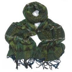 ladies scarf Erin Green Textured design scarves shawls wrap neck soft fashion