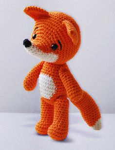 cute crochet fox amigurumi