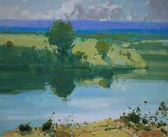 After the Rain, Landscape oil painting, Impressionism, One of a kind