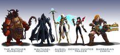 Overwatch Blizzard mashup skins 2 by wildcard24.deviantart.com on @DeviantArt