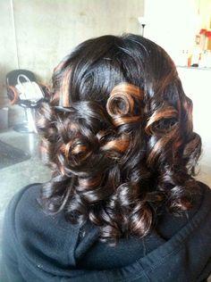 Natural hair, highlights