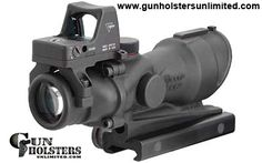 Gun Scopes: Trijicon ACOG Rifle Scope 4X 32 Amber Crosshair .223 Matte 3.25 MOA RMR/TA51 Mnt TA01NSN-RMR