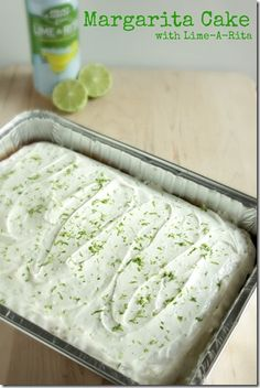 Margarita Cake with Lime-A-Rita. Spice up your summer appetite and get into the festive spirit! Lime-a-Rita's can replace any summer beer. Less calories+twice the alcohol. Add a margarita cake, and it's the perfect day!