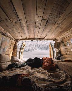 Living-In-Van-Life-Travel-Photography – camper van remodel Diy Camper, Camper Life, Van Life, Moderne Lofts, T3 Vw, Vw Volkswagen, Van Interior, Interior Design, T4 Camper Interior Ideas