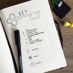My key is not so colourful like the rest of my bullet journal, but I like it! …