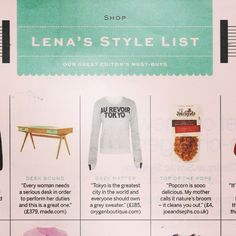 Look who made it on to Lena Dunham's Style List guest edit today in @stylistmagazine - Joe & Seph's caramel, maple & pecan popcorn. Delicious.