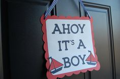 Ahoy Its A Boy Nautical Baby Shower Nautical Party by GiggleBees, $12.00