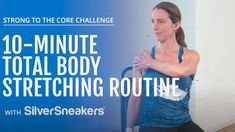 Core Challenge, Stretch Routine, Senior Fitness, Take A Breath, Slow Down, Total Body, Workout Videos, Stretching, Challenges