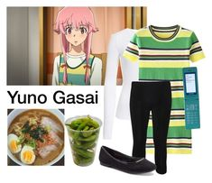 """Yuno Gasai Mirai Nikki / The Future Diary"" by starrydancer ❤ liked on Polyvore featuring BP., WearAll and LC Lauren Conrad"