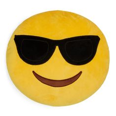Throwboy Shades Emoji Decorative Pillow