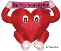 "Valentine's Inflatable Heart 4 Foot Lovely ""Be My Valentine"" Romantic Gift Cute  #BZBGoods"