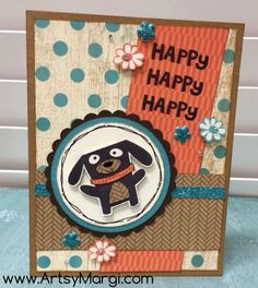 Super cute card created by Margi @ ArtsyMargi.com Close To My Heart CTMH Seaside, Scardey Cat