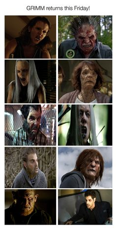 Is it wrong that I can name all of these wesen without thinking? Grimm Tv Series, Grimm Tv Show, Detective, Nick Burkhardt, Grimm Fairy Tales, Great Tv Shows, Sagittarius, Good Movies, Portland