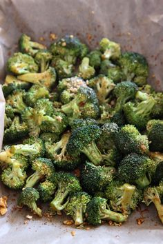 Sriracha Broccoli. (Broccoli, Soy Sauce, Sesame Seed Oil, Sriracha, Garlic, Crushed Peanuts, Black Pepper)