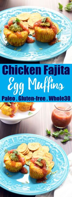 Chicken Fajita Egg Muffins from Living Loving Paleo Paleo Chicken Recipes, Primal Recipes, Egg Recipes, Real Food Recipes, Healthy Recipes, Healthy Breakfasts, Healthy Eats, Free Recipes, Clean Eating Recipes For Dinner