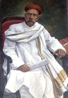 """""""Swaraj humaara janmsiddh adhikar hai"""" (Self-rule is our birth right) roared Tilak, the Lion of India, which inspired millions of Indians. His book Geeta-Rahasya, a classic treatise on Geeta in Marathi was written by him in prison at Mandalay in Burma. Bal Gangadhar Tilak, born as Keshav Gangadhar Tilak, on 23rd of July 1856 was an Indian nationalist, journalist, teacher, social reformer, lawyer and an independence activist. Social Reformers Of India, Freedom Fighters Of India, 15 August Independence Day, Mother India, History Of India, Illusion Art, Great Leaders, Mandalay, Rare Photos"""