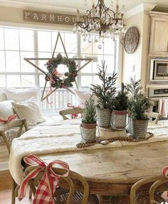 Farmhouse Christmas holiday ❤️ the Star wreath Diy Christmas Gifts, Christmas Tree, Christmas Decorations, Table Decorations, Holiday Decorating, Decorating Tips, Christmas Ideas, French Country Christmas, Farmhouse Christmas Decor