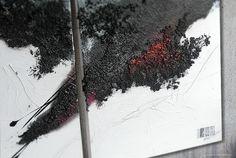 """Consistenza"" Trittico 150cm x 60cm Olio su tela, sabbia, carta gelso #home decor #drawing #painting #luxury"