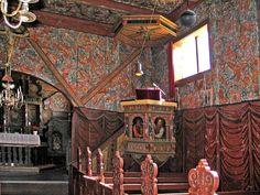 Røldal stavkirke. Veggmåling frå 1600-talet.