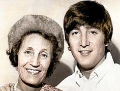 John Lennon and his aunt Mimi