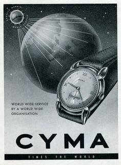 1948 Cyma watch ad ‹ Strickland Vintage Watches