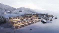 Gallery of BIG Unveils Images of Zig-Zag Ski Hotel in Switzerland - 1