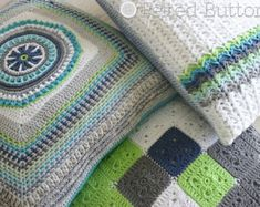"With a gorgeous palette of prismatic color, texture and join-as-you-go motifs, this blanket fits the Beatles song ""Lucy in the Sky with Diamonds"" line…""the girl with kaleidoscope eyes"".  The detailed and thoroughly tested 19 page pattern includes: ~complete materials list including the 18 colors of yarn used in the sample ~special stitches, stitch abbreviations (standard US terms), and notes sections ~detailed written pattern ~color placement diagram ~join-as-you-go instructions ~50 picture…"