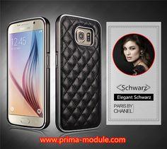 Luxus Paris BY Stil Chanel Leder Handyhülle mit Metall Bumper für Samsung Galaxy S6 und S6 edge - Prima-Module.Com